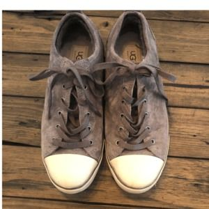 Ugg Taupe Low Top Lace Up Sneakers Size 8